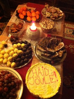 Traditional sweet-table