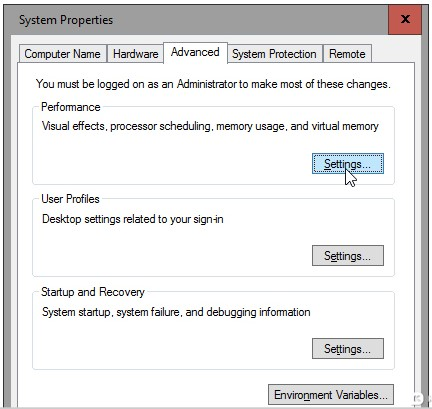 System Properties Windows 10 Courtesy: PC World