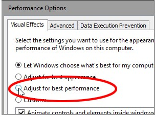 Performance Setting Windows 10 Courtesy: PC World