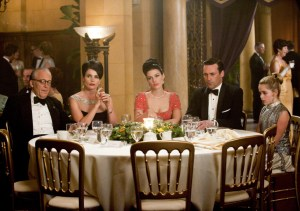Mad Men At the Codfish Ball-Dinner tableau