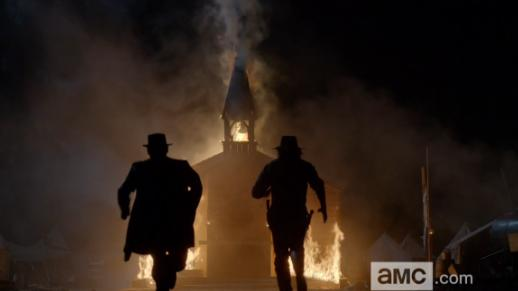"""Hell on Wheels """"Return to Hell"""" -- Cullen Bohannon and Thomas Durant race to the fire"""