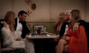 Mad Men episode 7.08: Severance, Don, Roger, 3 girls in a diner