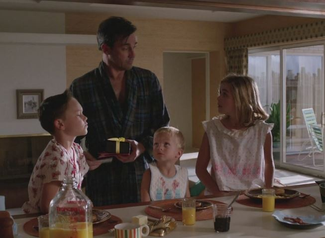Don and children at breakfast