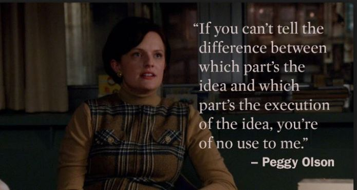 Peggy Olson pitches