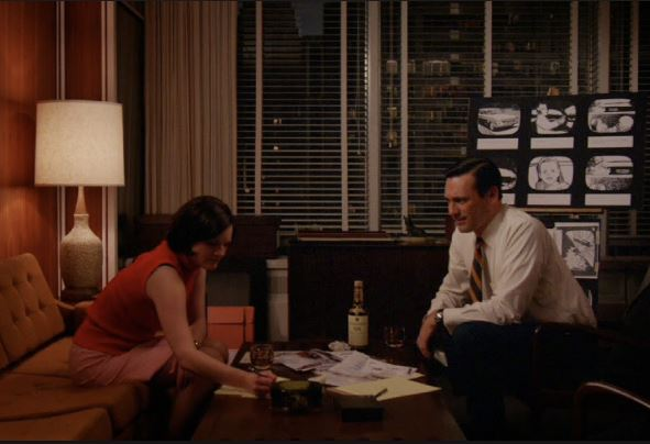 Peggy and Don work together