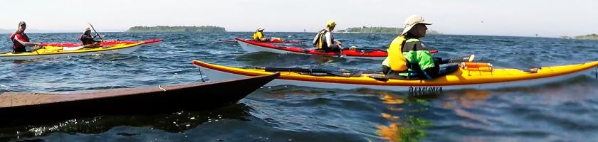 Kayaking to Chambers Island