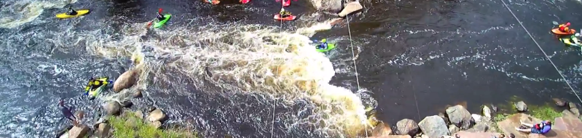 Wausau Whitewater Park as seen from Aerial Pulse's quadcopter