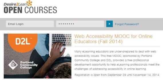 Web Accessibility MOOC for Educators