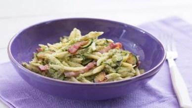 Trofie zucchine pancetta