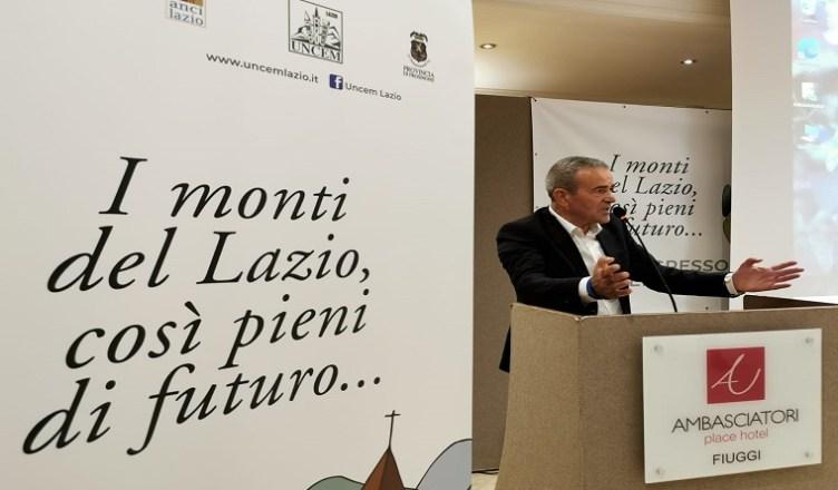 Congresso Uncem Lazio interrvento Achille Bellucci
