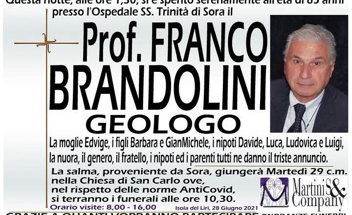 prof franco brandolini
