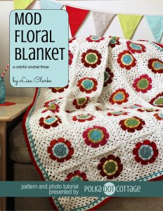 Mod Floral Blanket crochet pattern at Polka Dot Cottage
