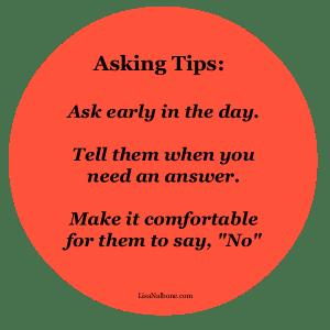 Asking Tips at LIsaNalbone.com
