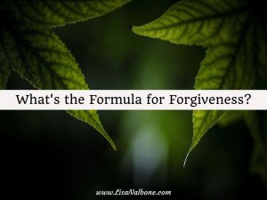 What's the Formula for Forgiveness?