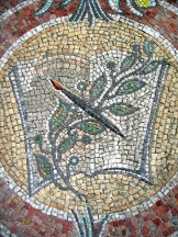 photo of book mosaic