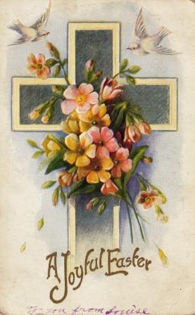 1911 Easter postcard, front