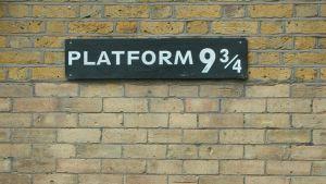 Platform 9 and three quarters