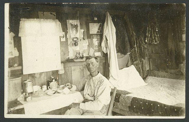 Interior of claim shack, Quinn S.D.
