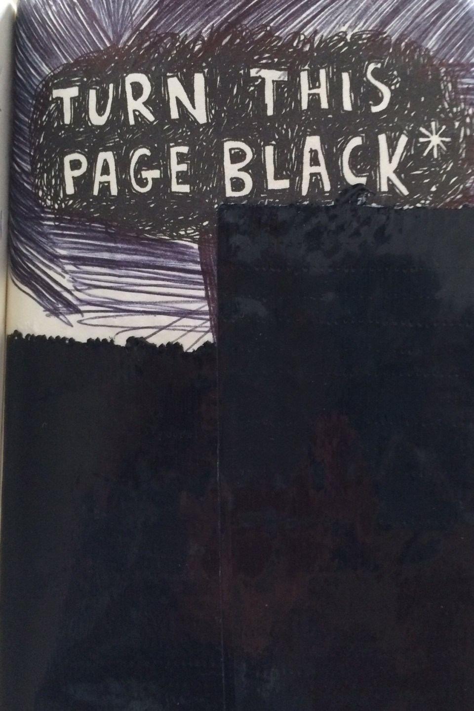 Turn this page black (using items found in the world).