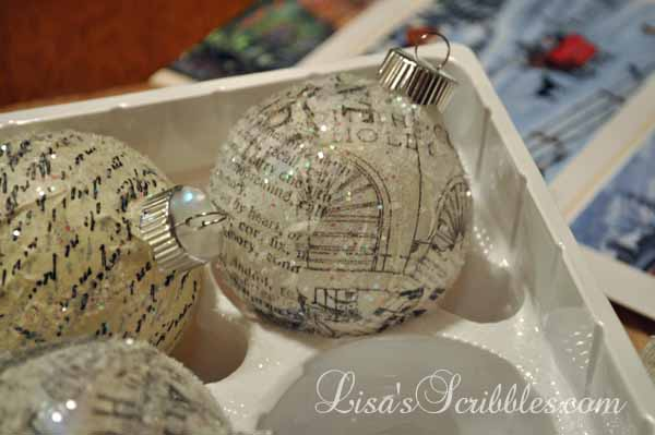 DIY Christmas – Glass Ornament Decoupage