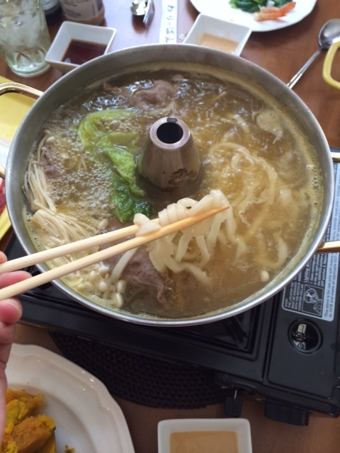 noodles in