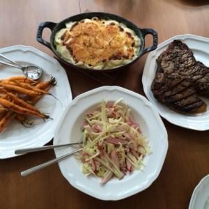 roast dinner spread