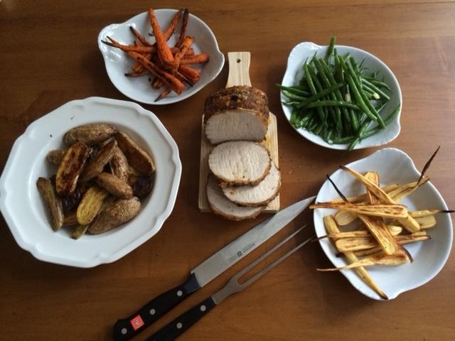 roast pork dinner 1