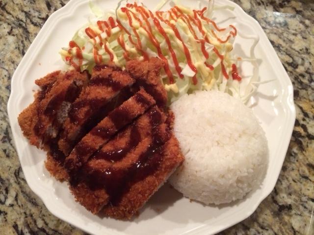 tonkatsu salad rice