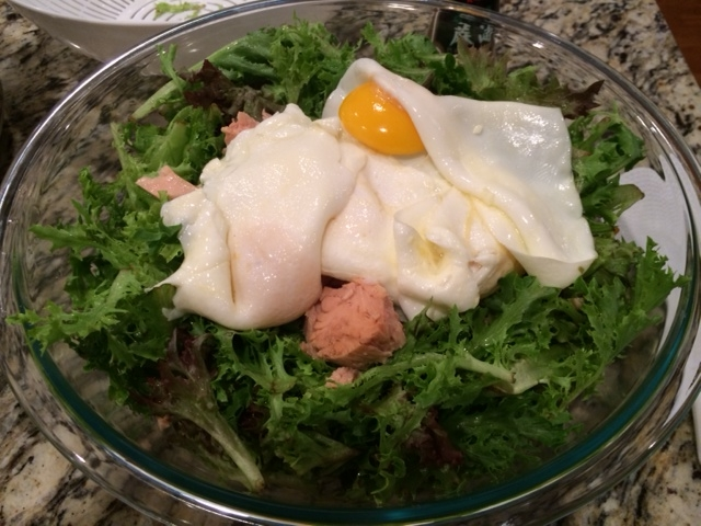 top with fried eggs