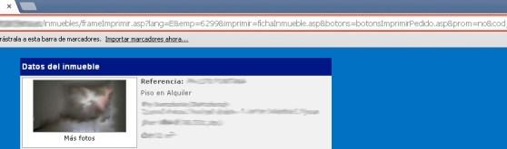 Estructura URL incorrecta