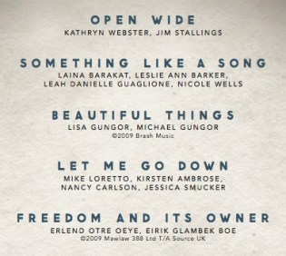 The Listening Wall Live EP Song List