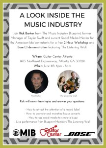 Come by Atlanta's Guitar Center from 6-8 pm on Thursday, June 4th!
