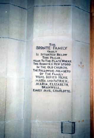 Bronte's Grave Marker