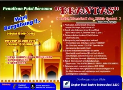 Penulisan Puisi Bersama BRANTAS (Beduk Ramadhan dan Takbir Syawal)