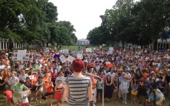 speaking at rally