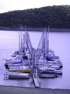 Ein Bootsanleger am Edersee