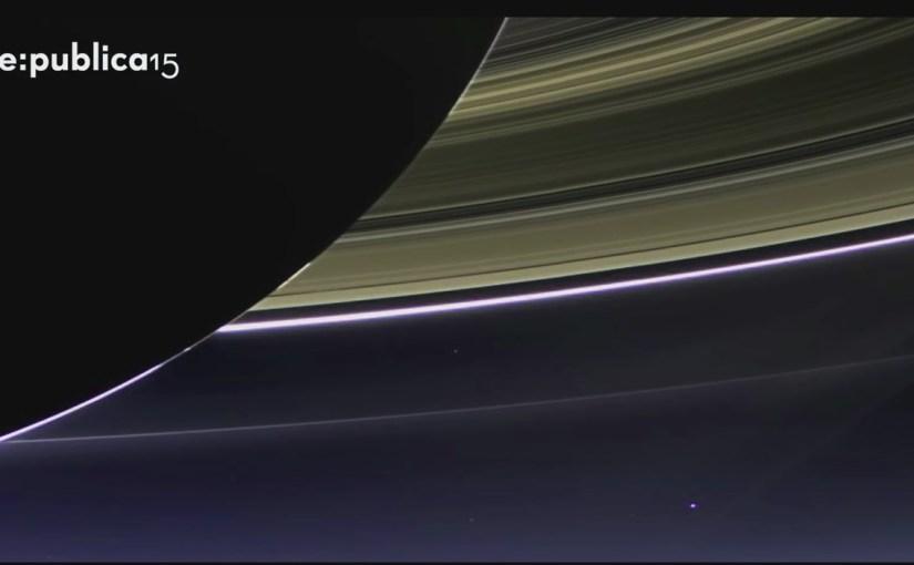 Die Erde aufgenommen vom Saturn
