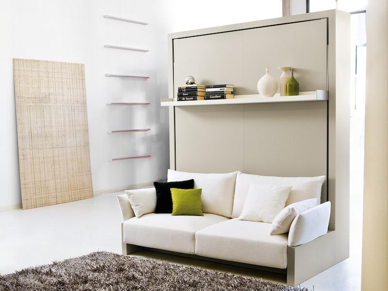 Et pourquoi pas une armoire lit canap escamotable for Lit escamotable avec banquette