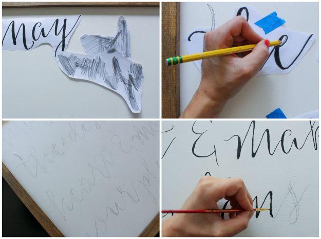 DIY Framed Calligraphy Sign Step 3