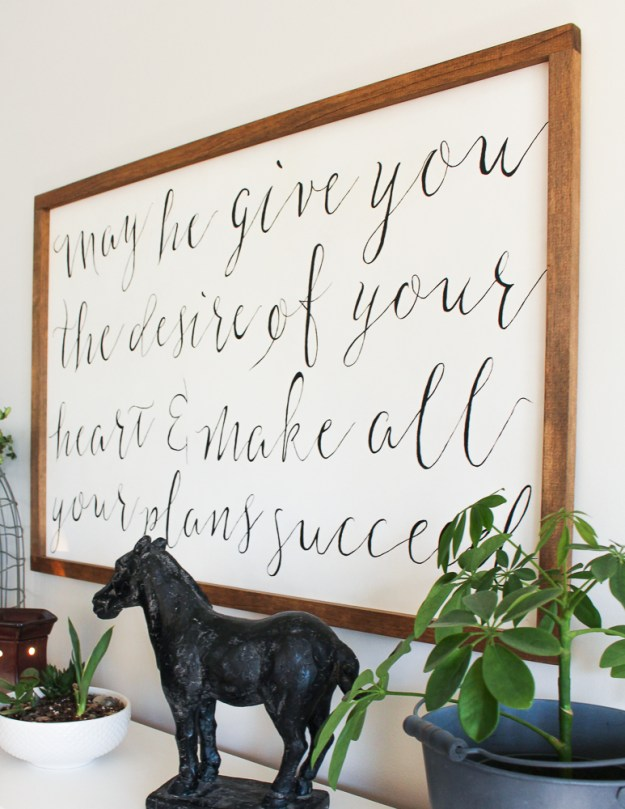 How To Make A Framed Calligraphy Sign