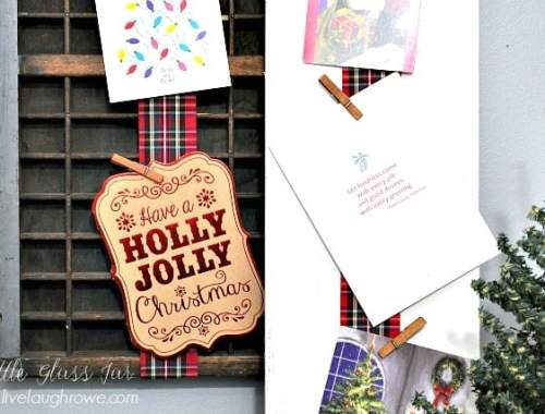 Holiday Card Display. Easy card display
