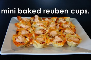 'kiss me I'm Irish' week: mini baked reuben cups.