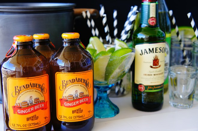 whiskey moscow mules // 3 simple ingredients to a delicious cocktail. a great way to update your traditional moscow mules for the winter months. also a fun signature cocktail when hosting a party, maybe the super bowl? c/o LLinaBC.com