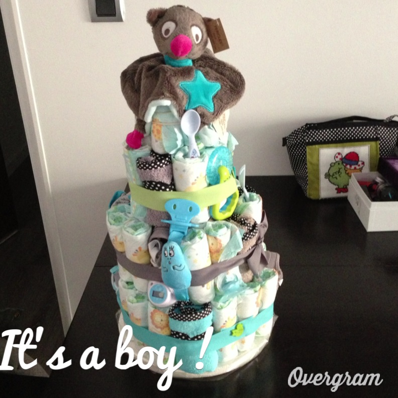 Le cas de la baby shower little miss beauty - Fabrication d un gateau de couches ...