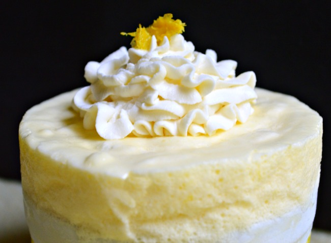 Whipped Cream and Lemon Zest Topping