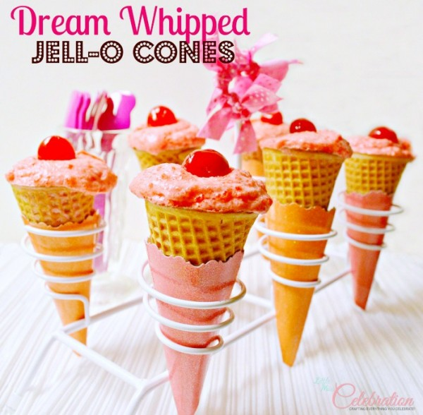 Dream Whipped Jell-O Cones at Little Miss Celebration