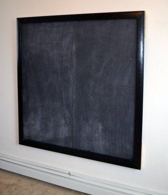 DIY Chalkboard finished