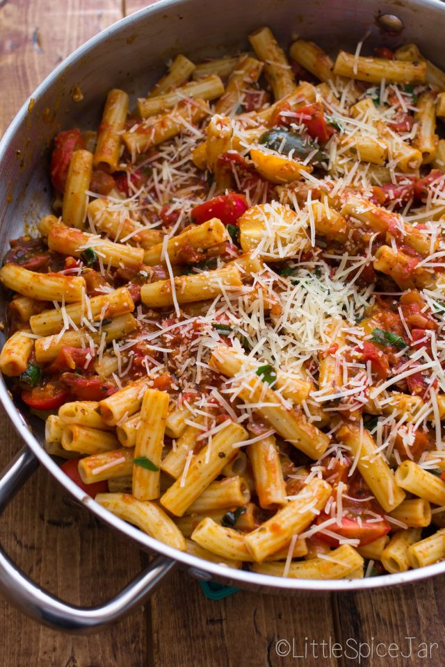 Spicy Baked Caprese Pasta 6