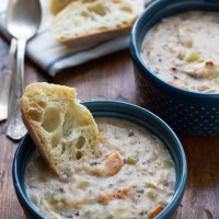 Creamy Chicken Wild Rice Soup {Slow Cooker}