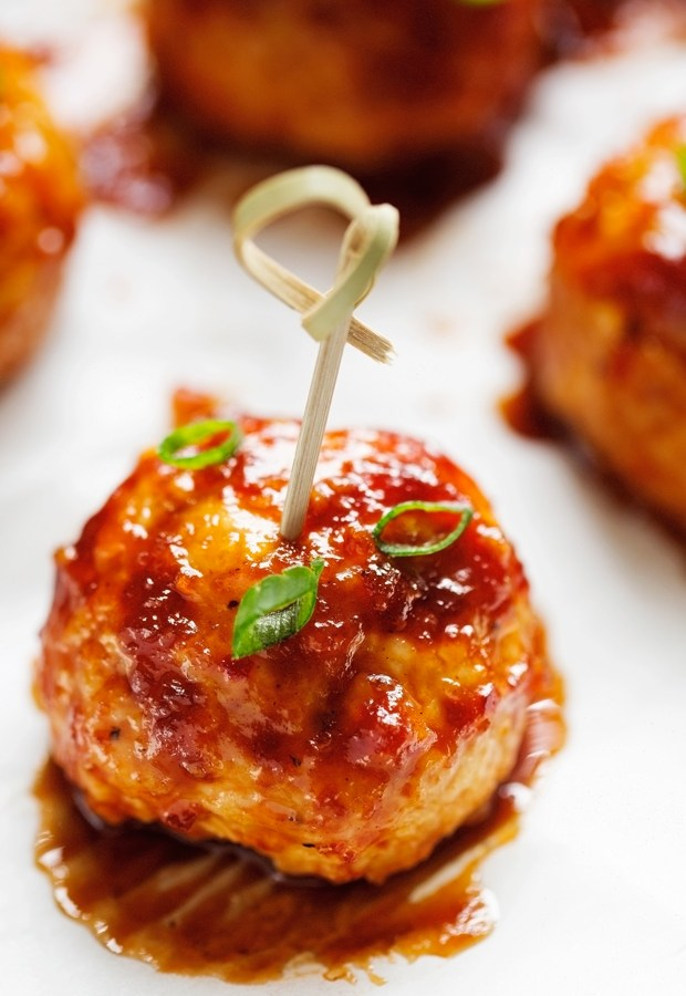 Hawaiian-BBQ-Chicken-Meatballs